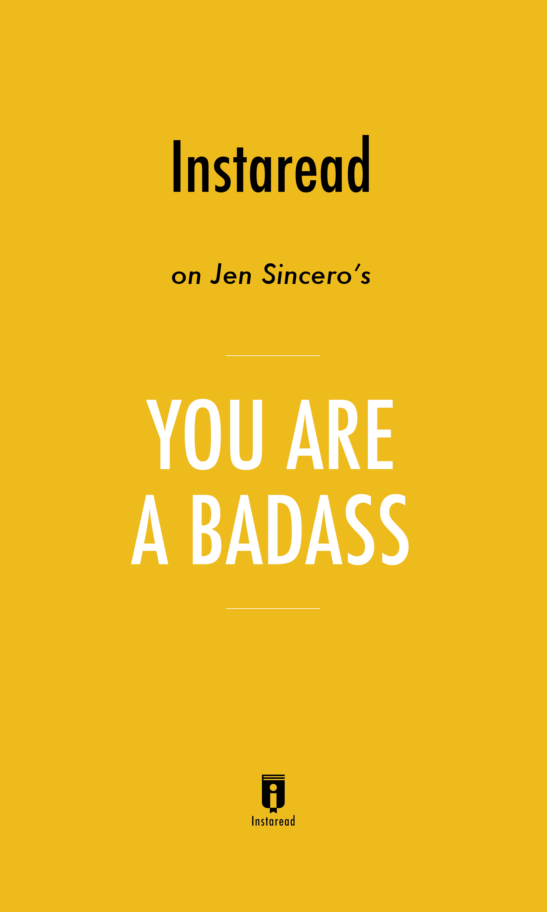 """Book Cover for """"You are a Badass"""""""