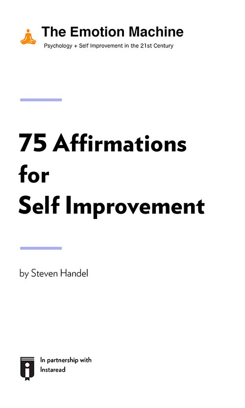 "Book Cover for ""75 Affirmations for Self Improvement"""