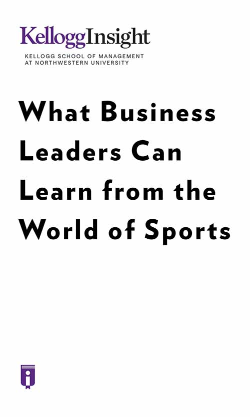 "Book Cover for ""What Business Leaders Can Learn from the World of Sports"""