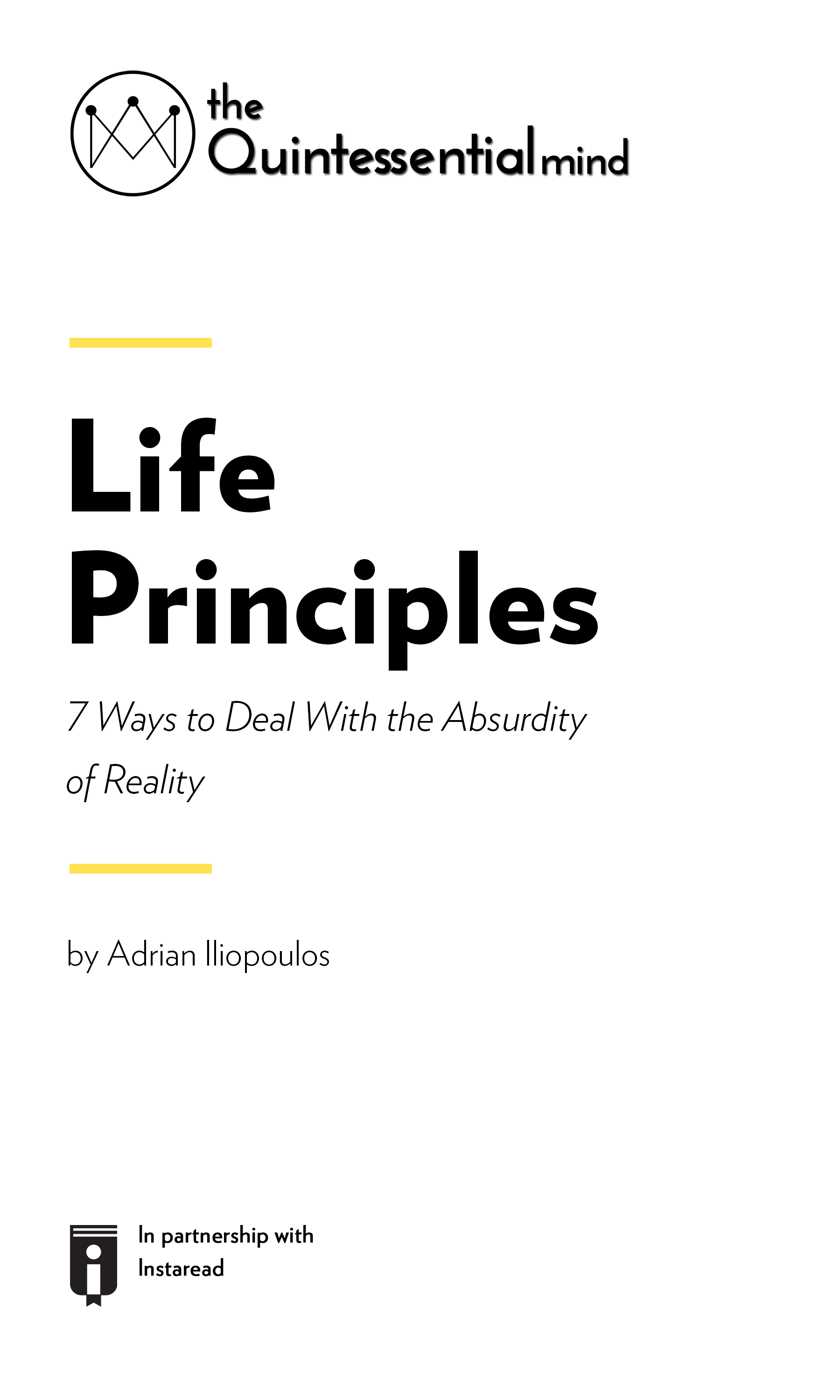 """Book Cover for """"Life Principles – 7 Ways to Deal With the Absurdity of Reality"""""""