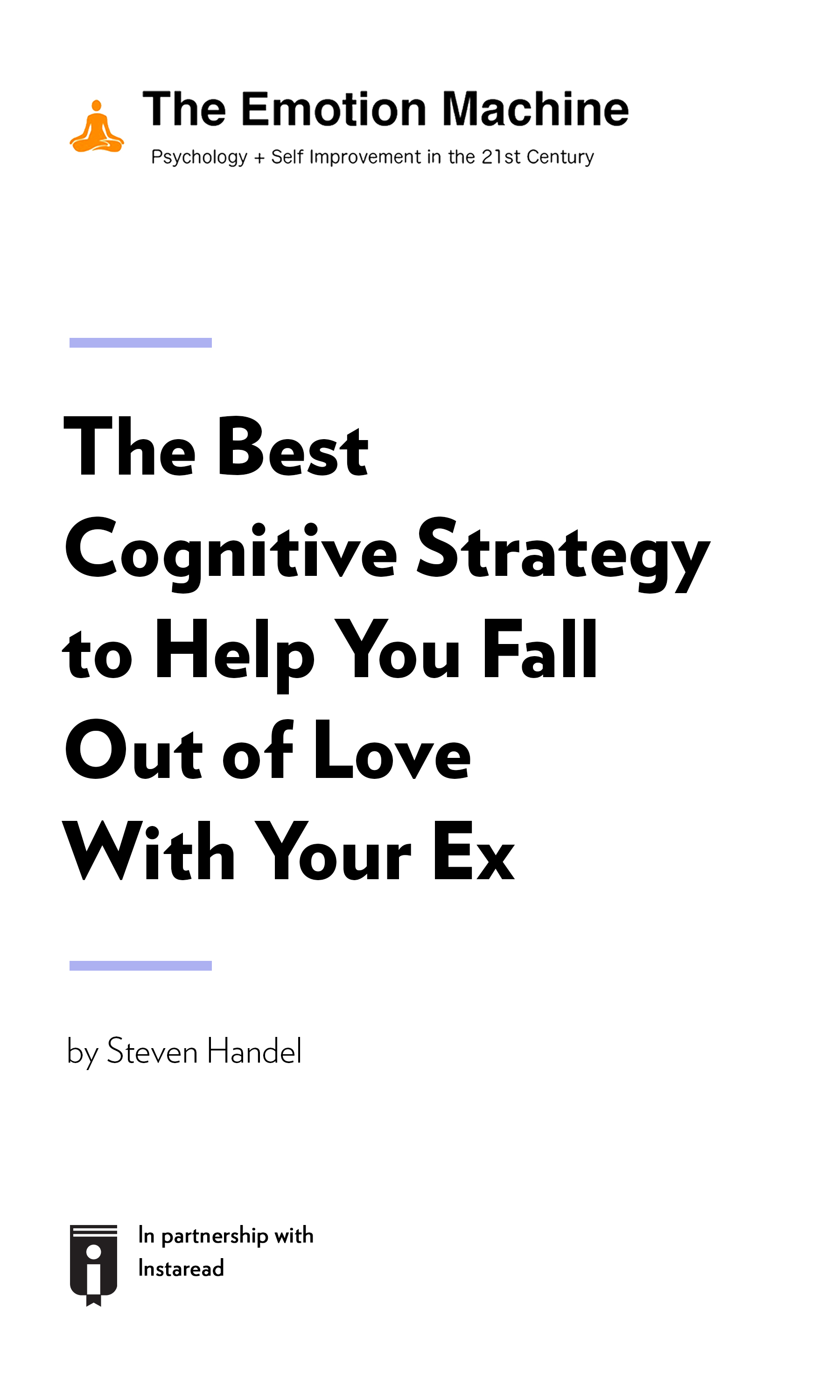 """Book Cover for """"The Best Cognitive Strategy to Help You Fall Out of Love With Your Ex"""""""