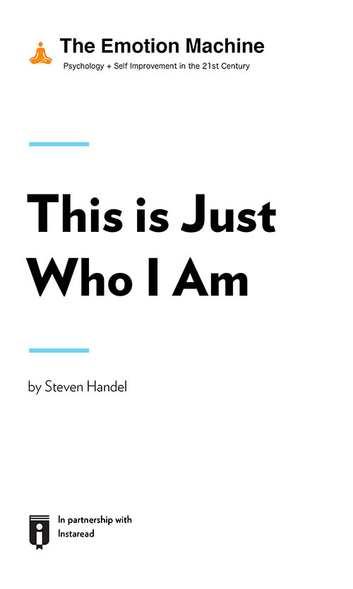 "Book Cover for ""This Is Just Who I Am"""