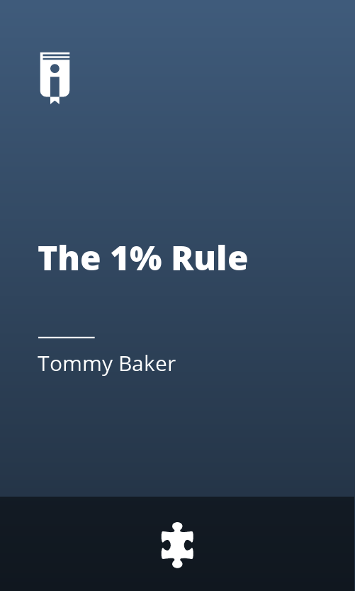 "Book Cover for ""The 1% Rule"""
