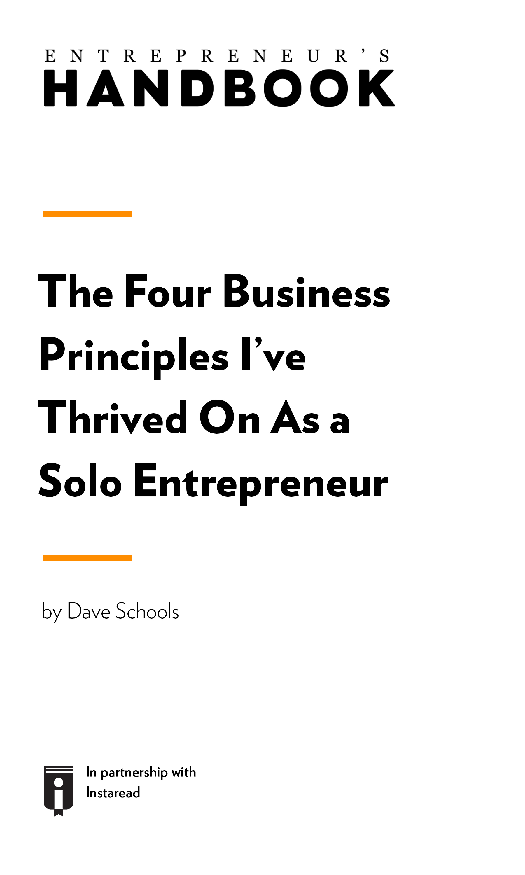 "Book Cover for ""The Four Business Principles I've Thrived On as a Solo Entrepreneur"""