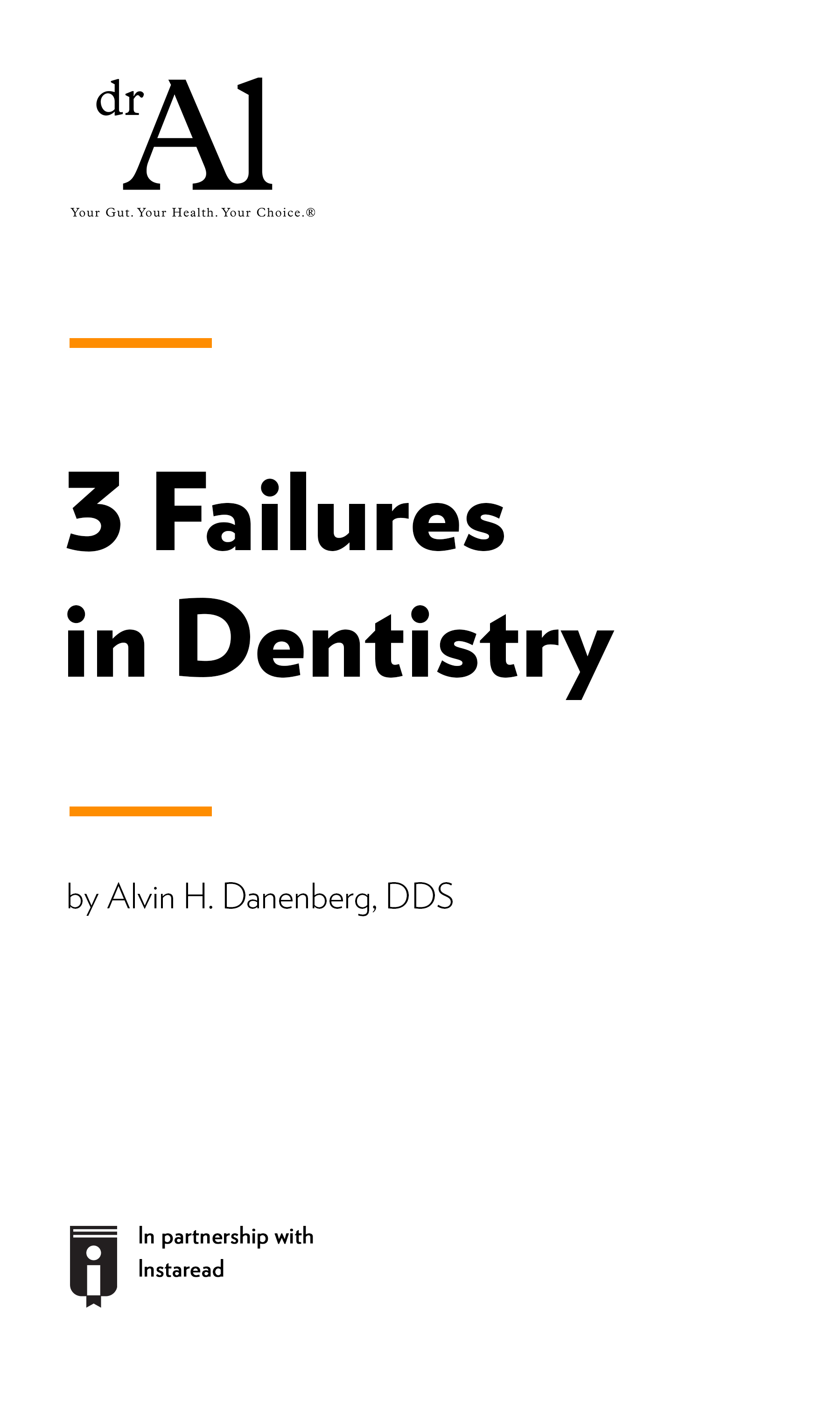 """Book Cover for """"3 Failures in Dentistry"""""""