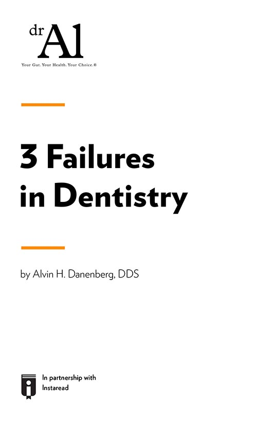 "Book Cover for ""3 Failures in Dentistry"""