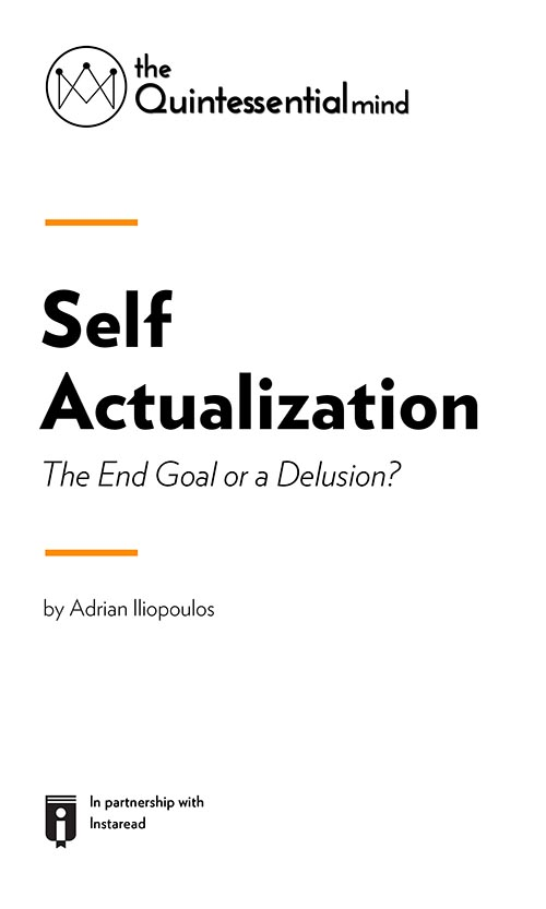 "Book Cover for ""Self Actualization – The End Goal or a Delusion? """