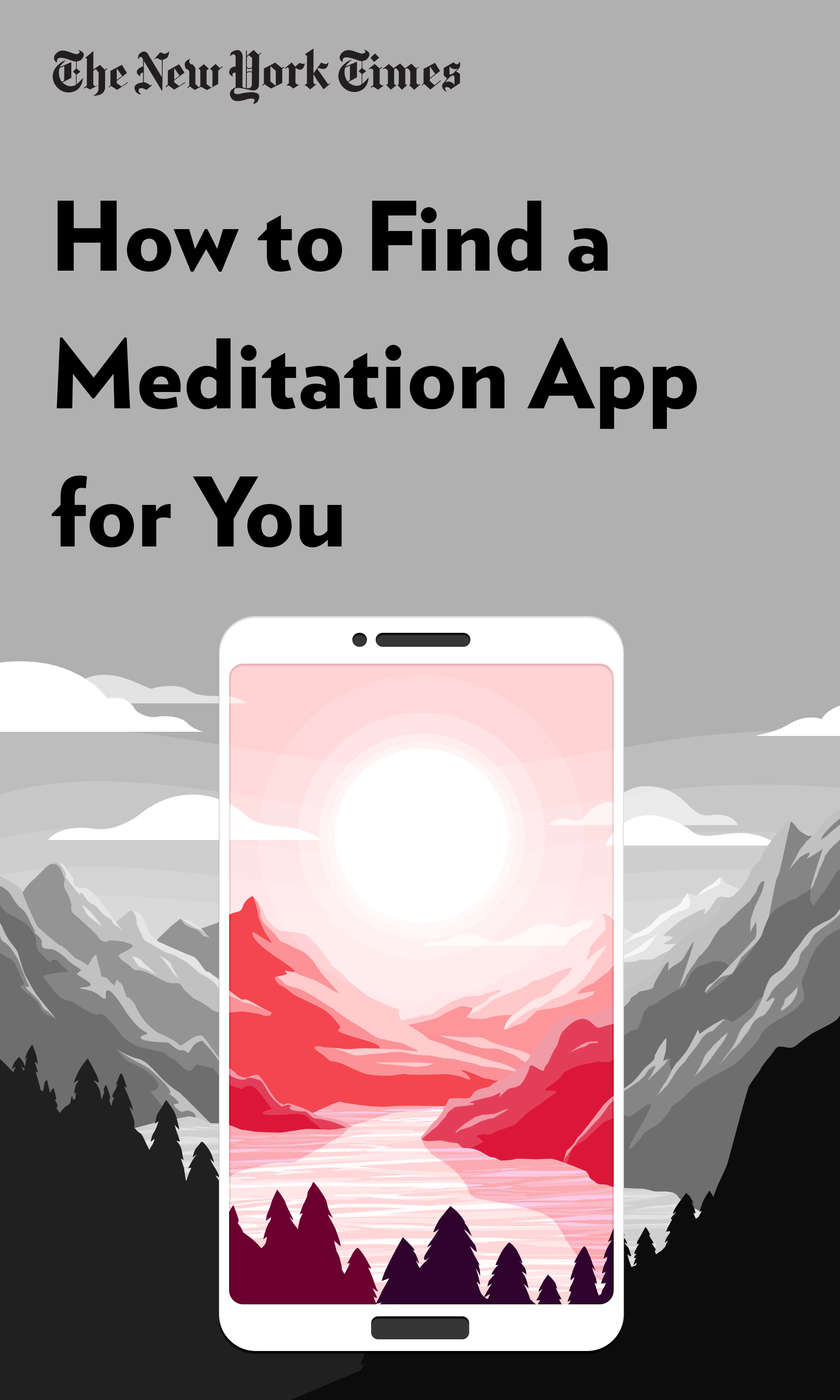 "Book Cover for ""How to Find a Meditation App for You"""