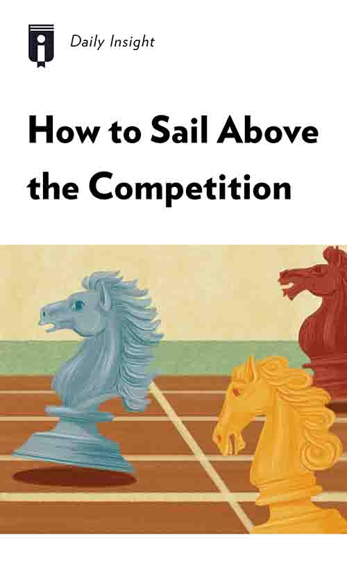 "Book Cover for ""How to Sail Above the Competition"""