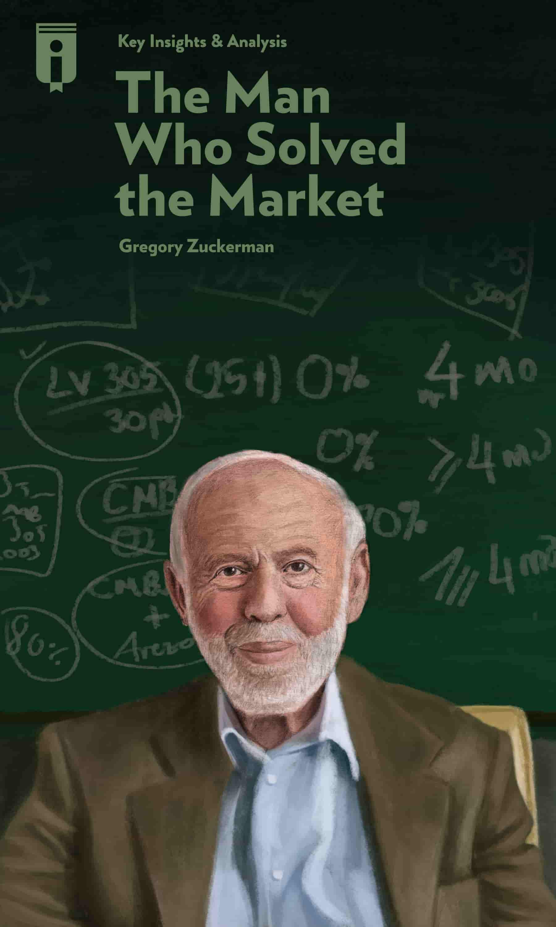 """Book Cover for """"The Man Who Solved the Market"""""""