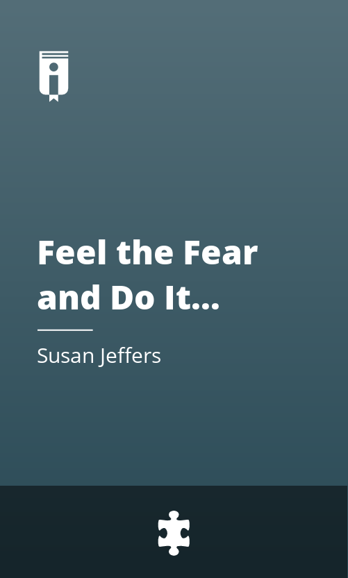 """Book Cover for """"Feel the Fear and Do It Anyway"""""""