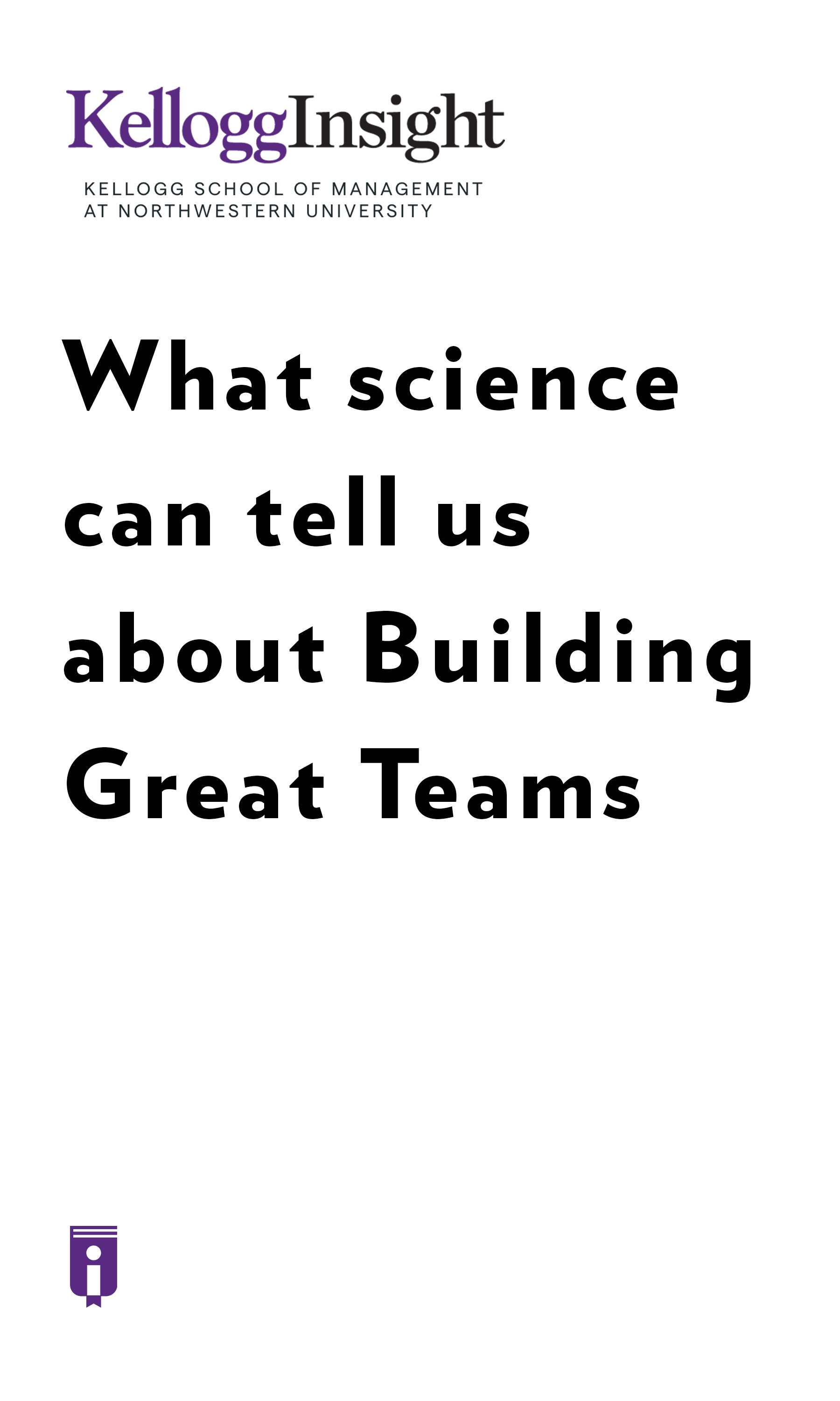 "Book Cover for ""What Science Can Tell Us About Building Great Teams"""