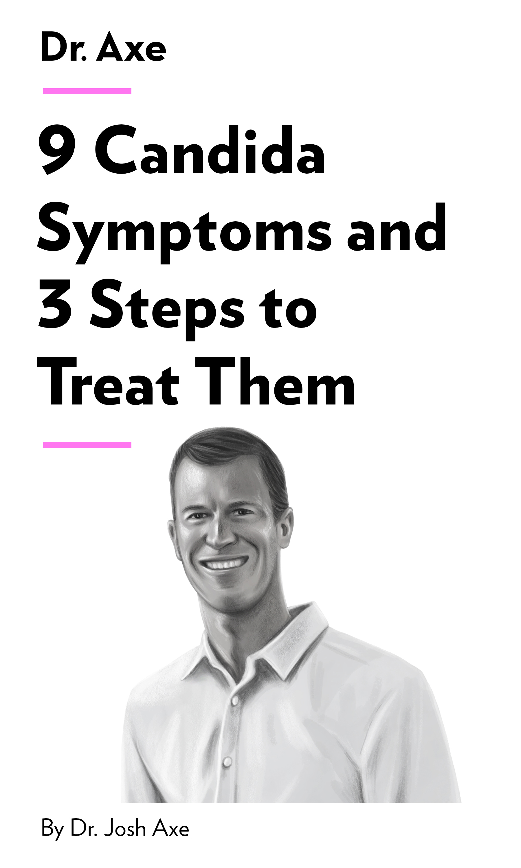"""Book Cover for """"9 Candida Symptoms and 3 Steps to Treat Them"""""""