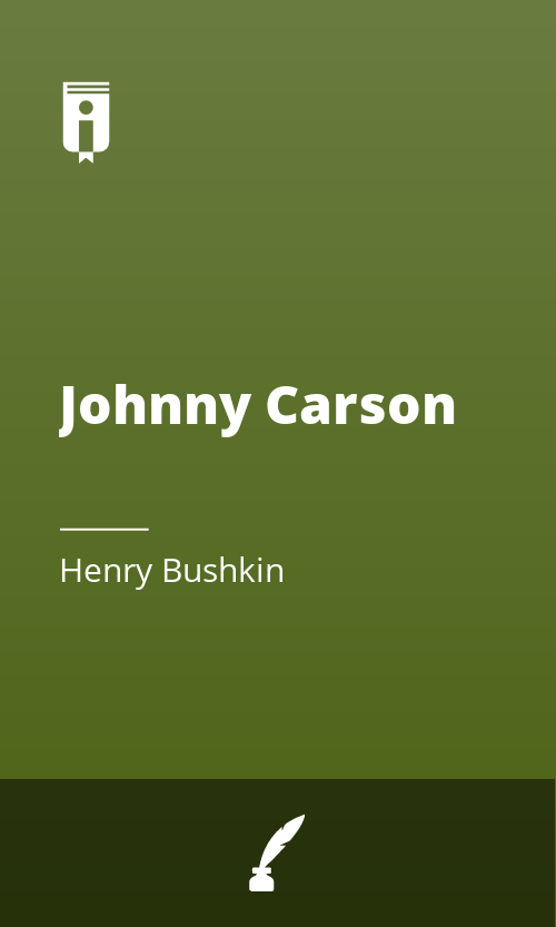 """Book Cover for """"Johnny Carson"""""""