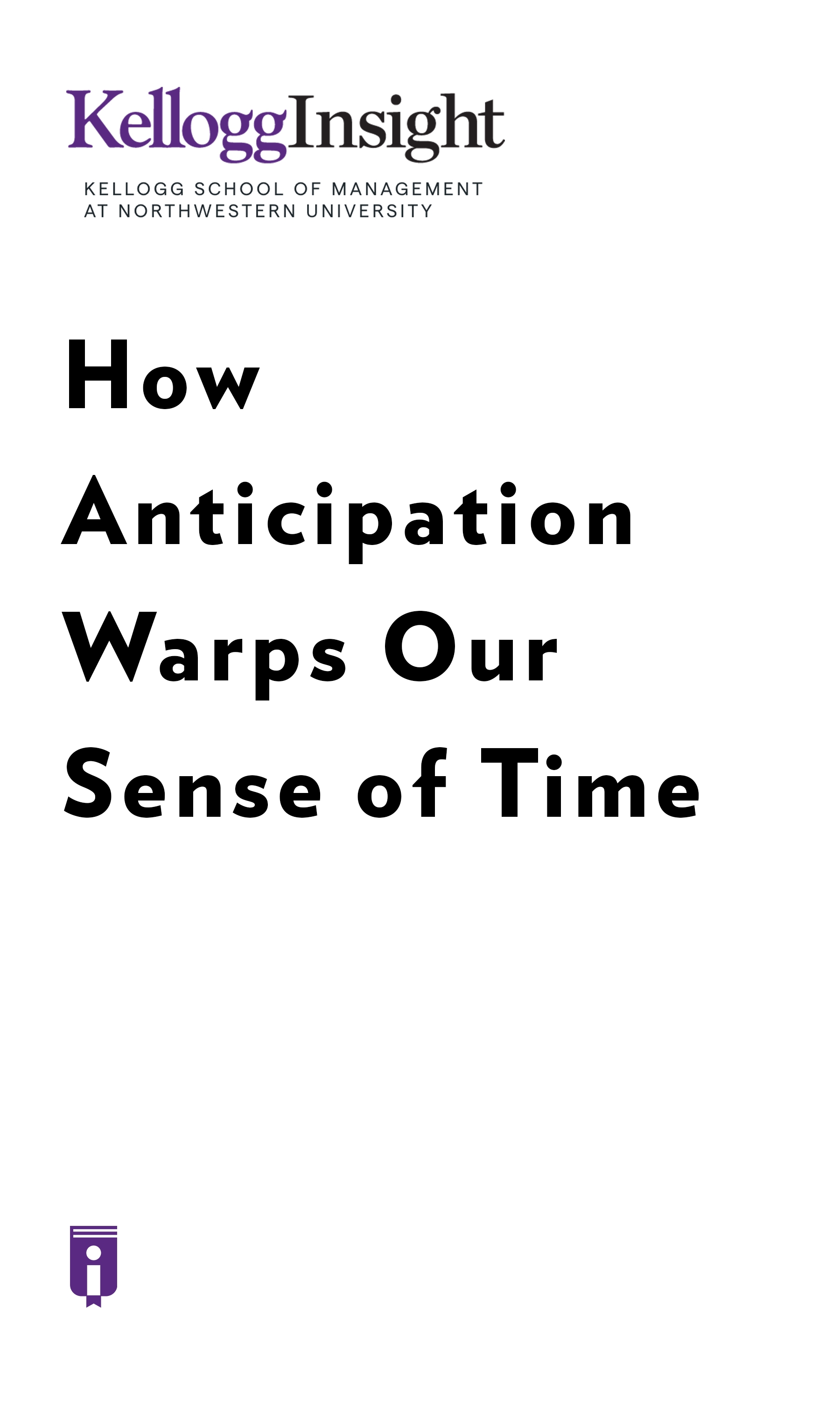"Book Cover for ""How Anticipation Warps Our Sense of Time"""