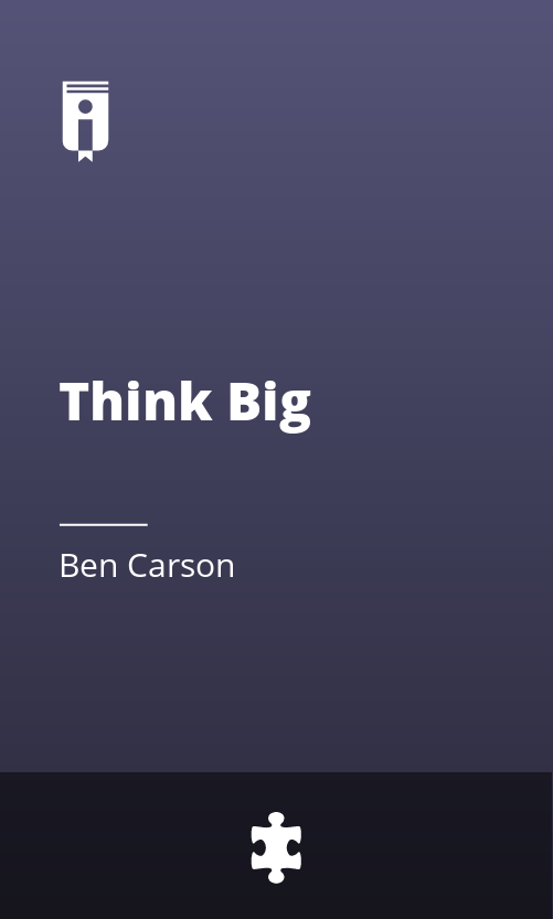 "Book Cover for ""Think Big"""