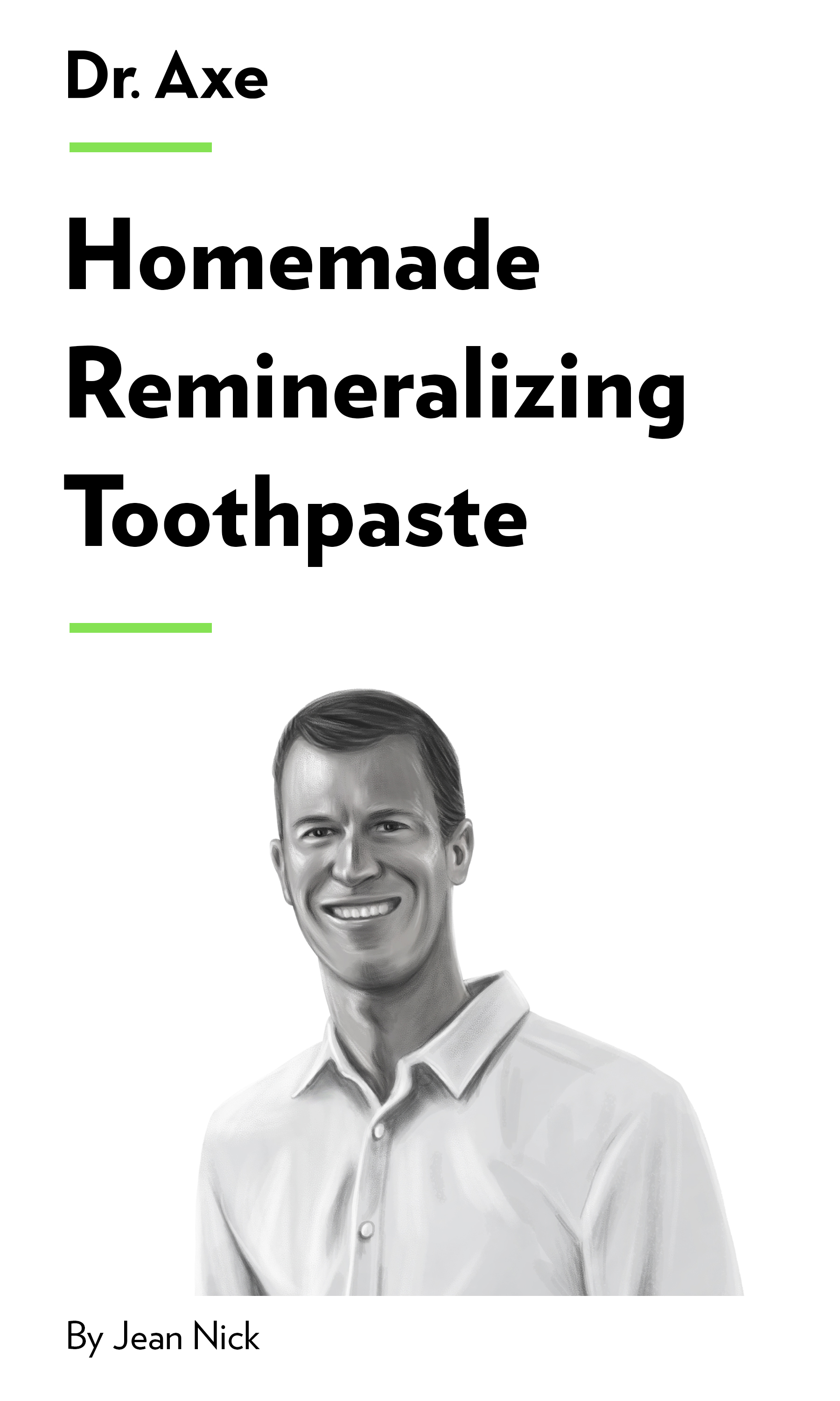 """Book Cover for """"Homemade Remineralizing Toothpaste"""""""
