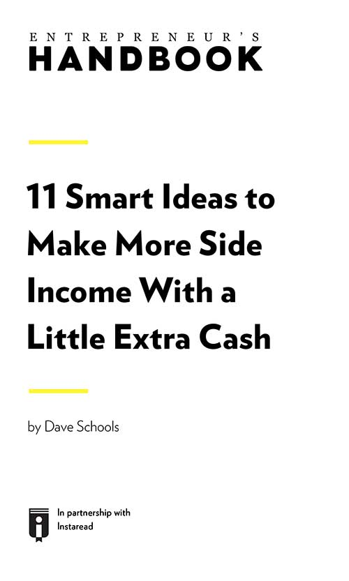 "Book Cover for ""11 Smart Ideas to Make More Side Income With a Little Extra Cash"""