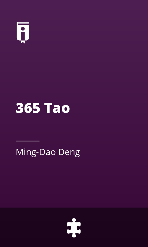 """Book Cover for """"365 Tao"""""""