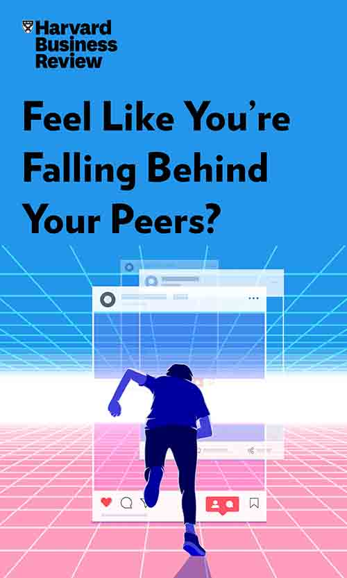 "Book Cover for ""Feel Like You're Falling Behind Your Peers?"""
