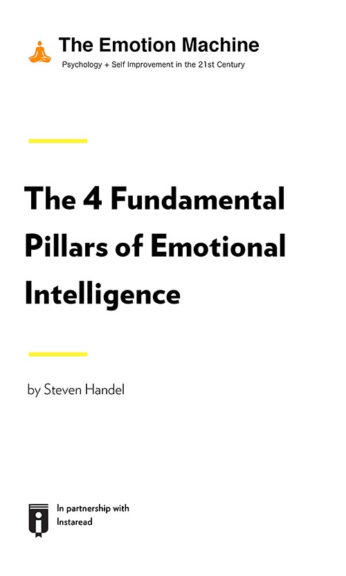 "Book Cover for ""The 4 Fundamental Pillars of Emotional Intelligence"""