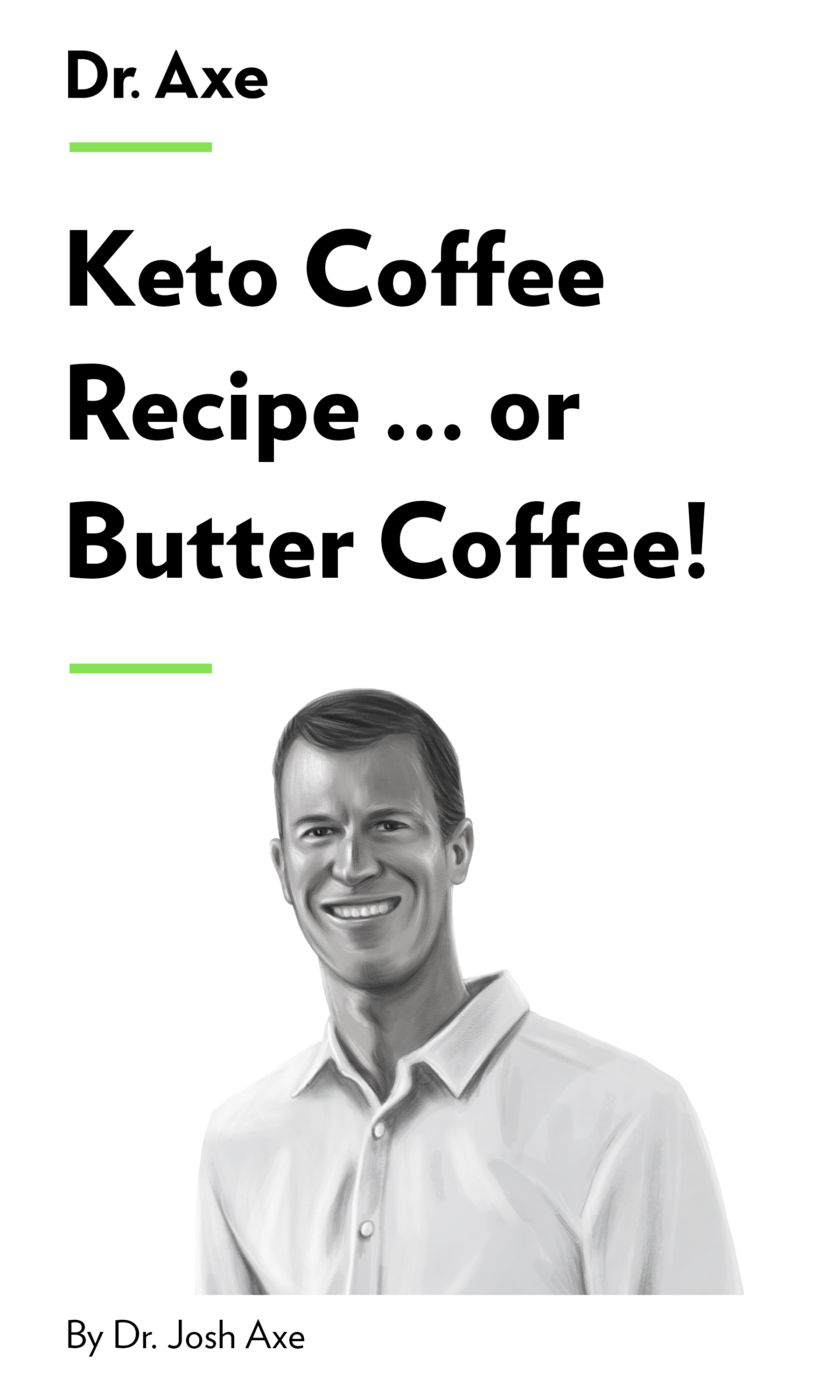 """Book Cover for """"Keto Coffee Recipe … or Butter Coffee!"""""""