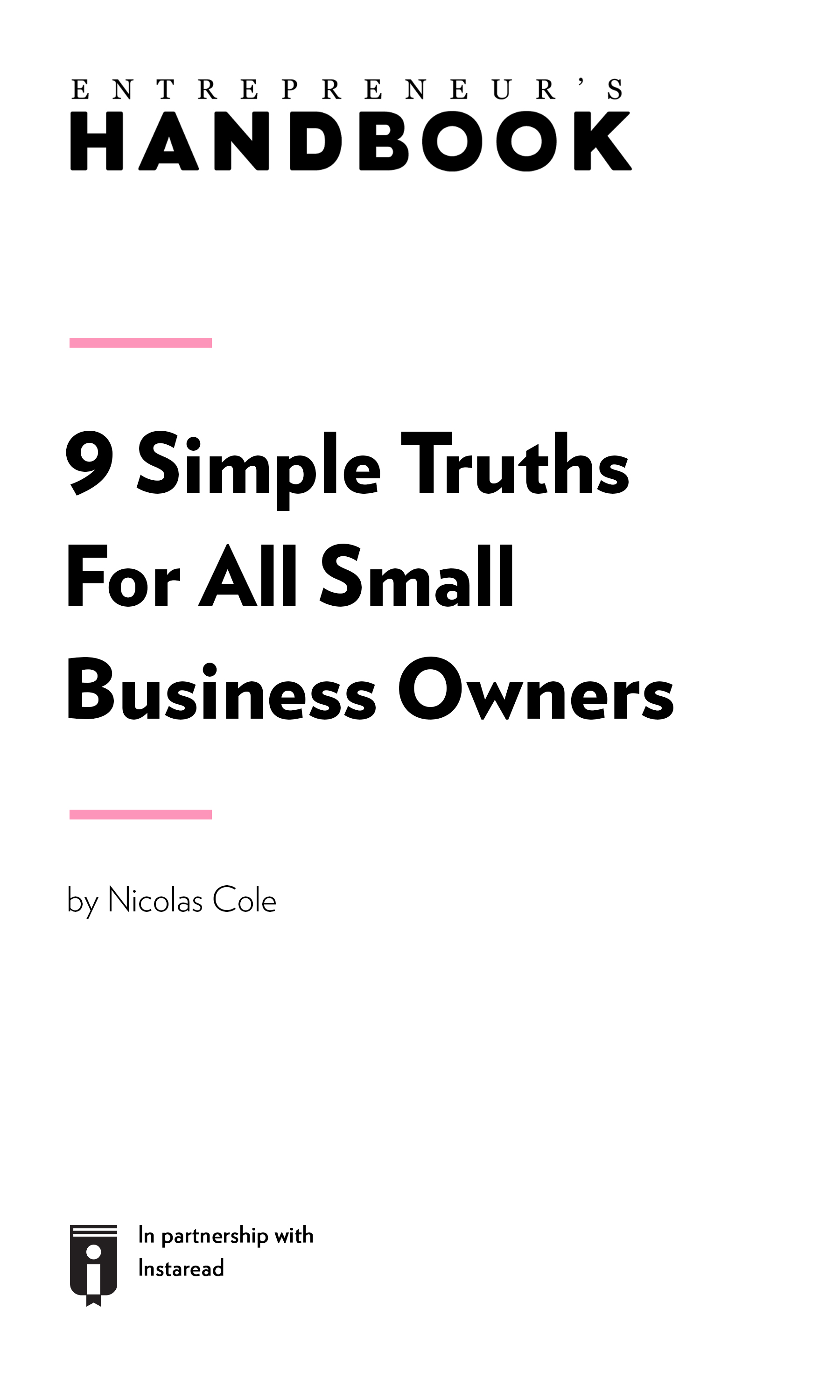 "Book Cover for ""9 Simple Truths For All Small Business Owners"""