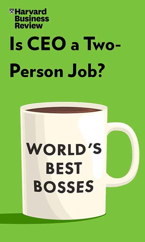 "Book Cover for ""Is CEO a Two-Person Job?"""