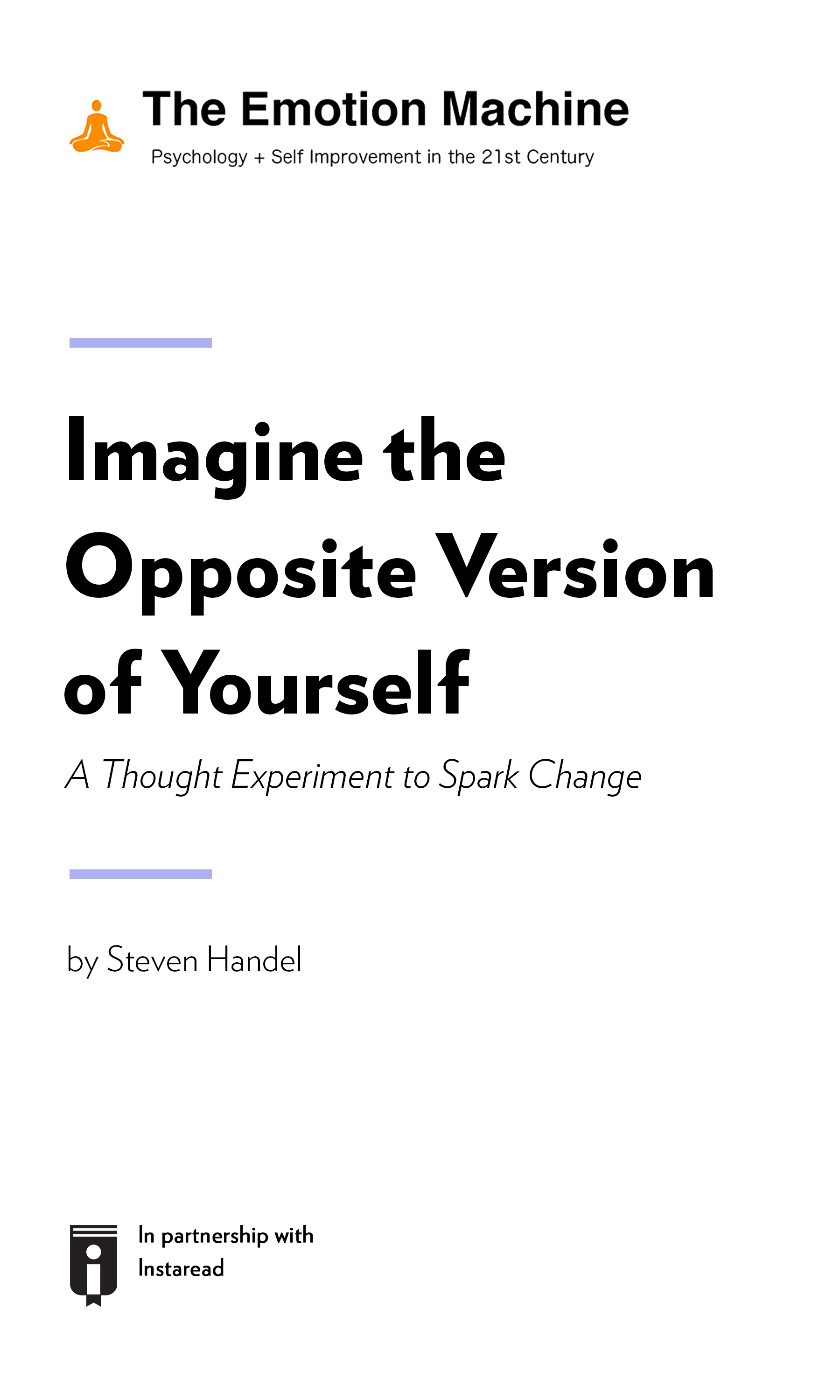 """Book Cover for """"Imagine the Opposite Version of Yourself: A Thought Experiment to Spark Change"""""""