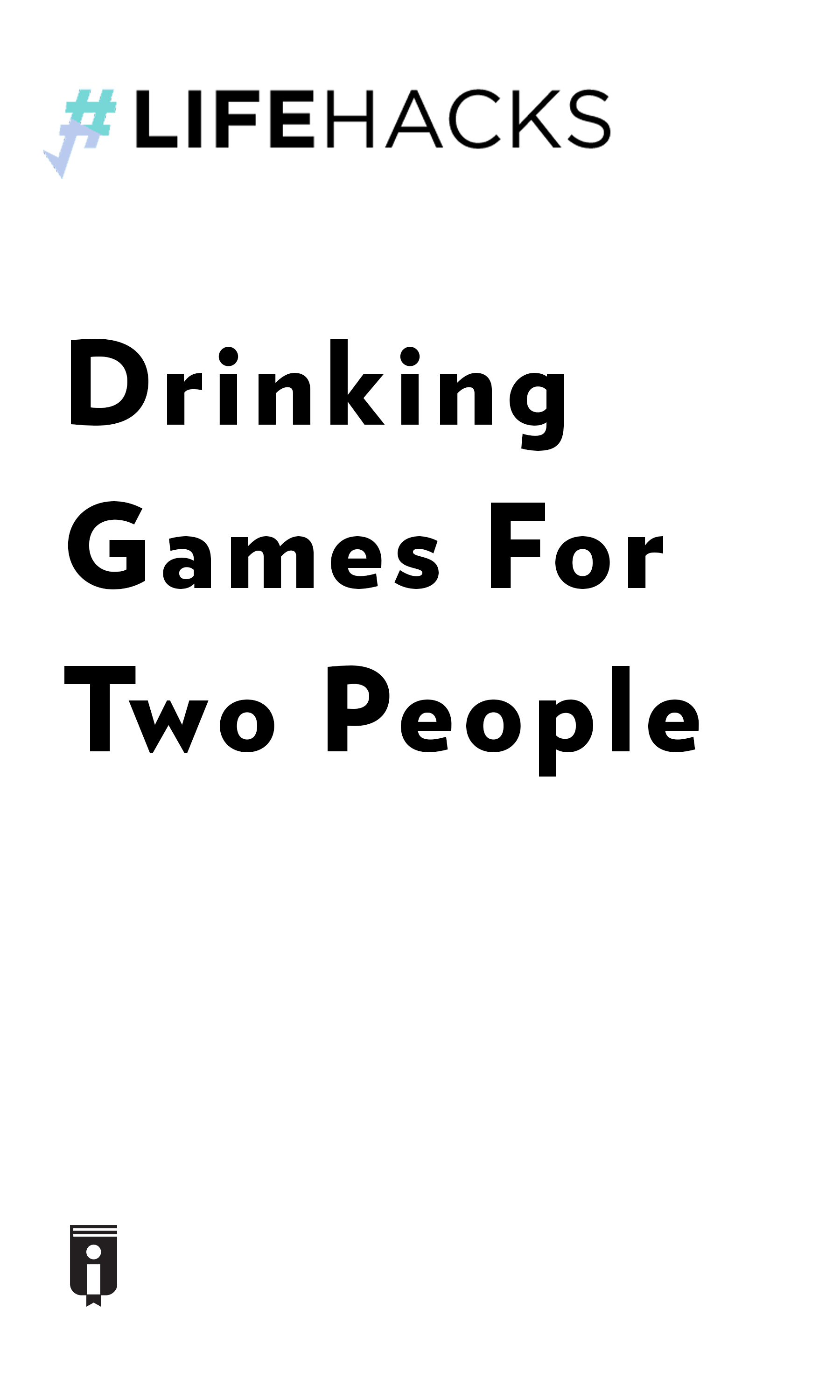 """Book Cover for """"Drinking Games For Two People"""""""
