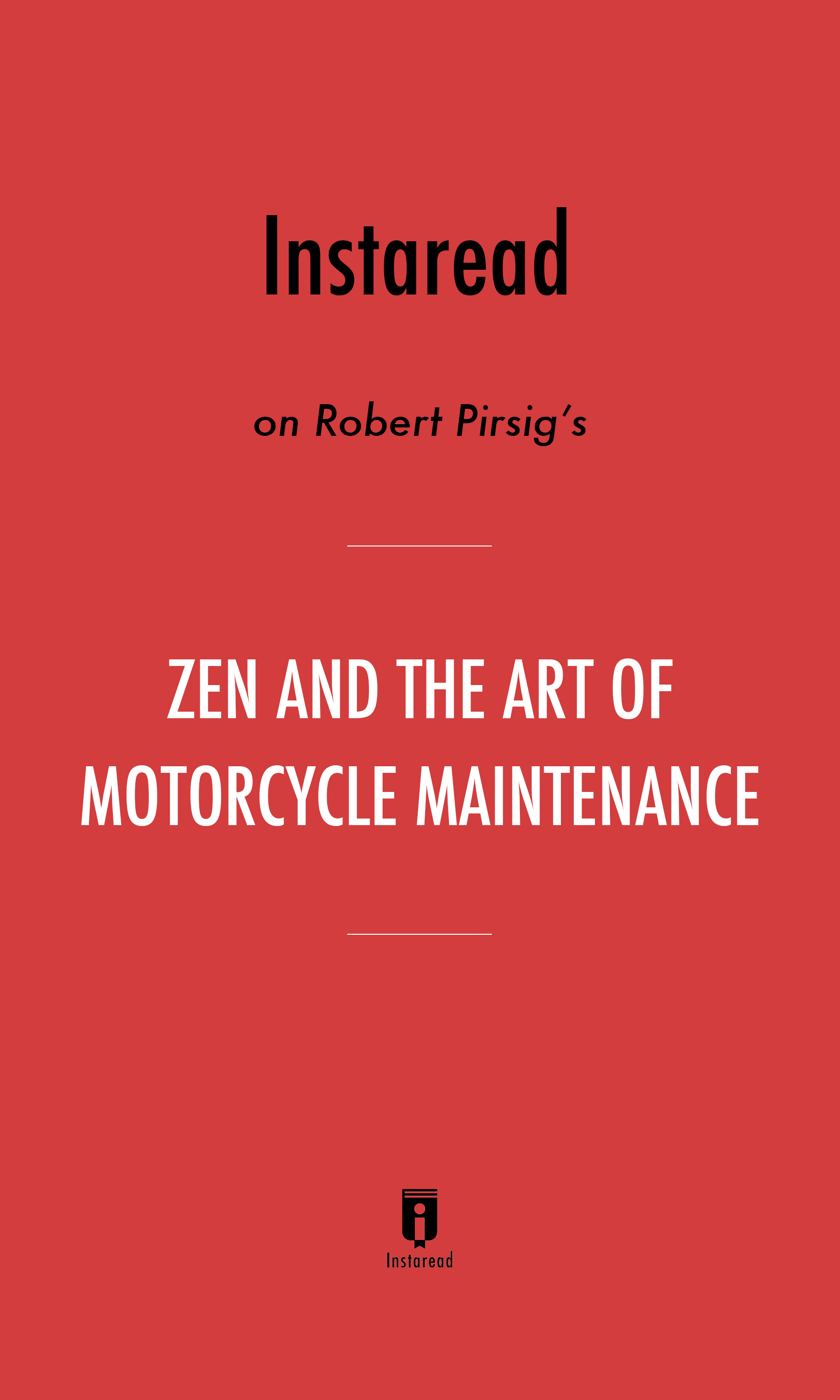 "Book Cover for ""Zen and the Art of Motorcycle Maintenance"""