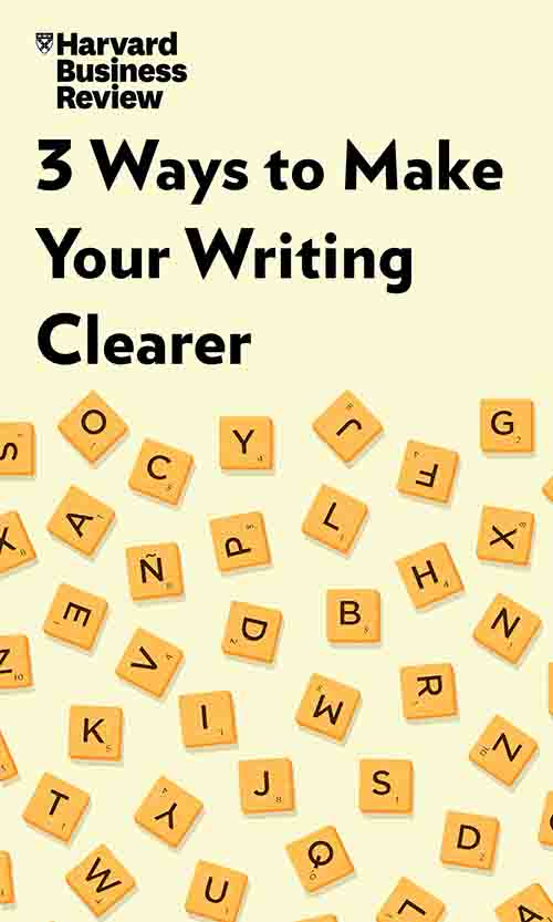 "Book Cover for ""3 Ways to Make Your Writing Clearer"""