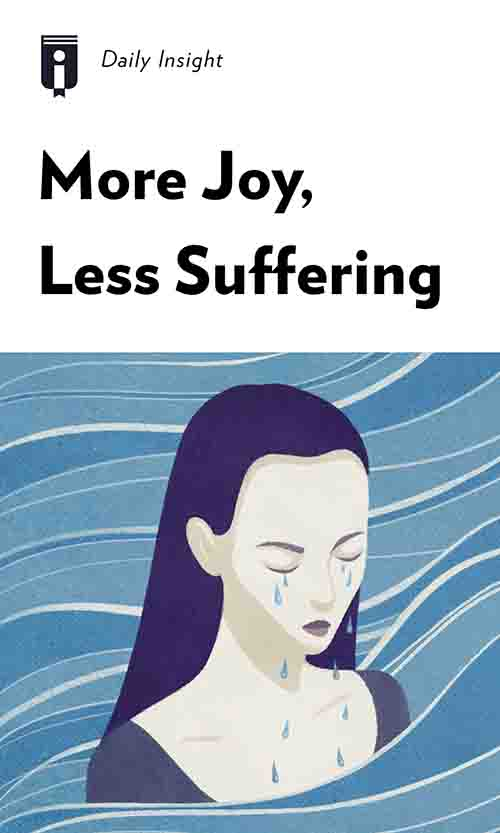 "Book Cover for ""More Joy, Less Suffering"""