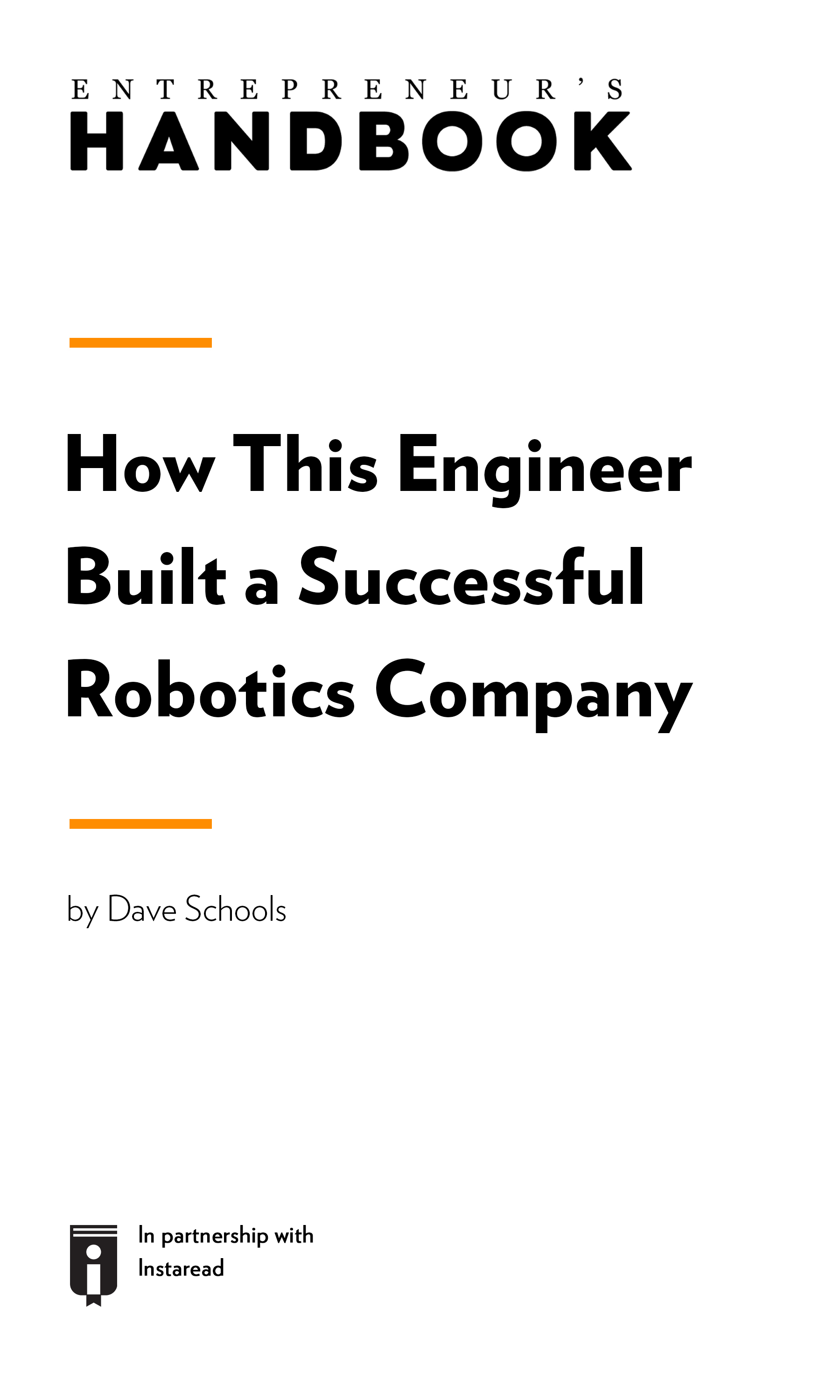 "Book Cover for ""How This Engineer Built a Successful Robotics Company"""