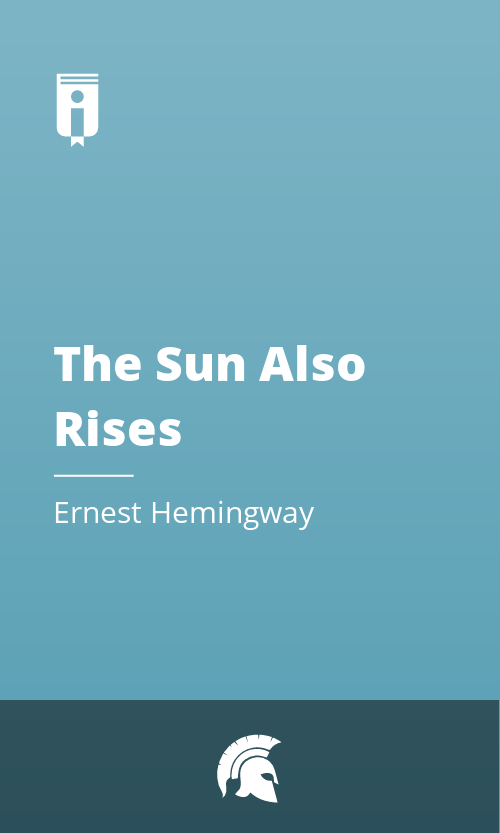 """Book Cover for """"The Sun Also Rises"""""""