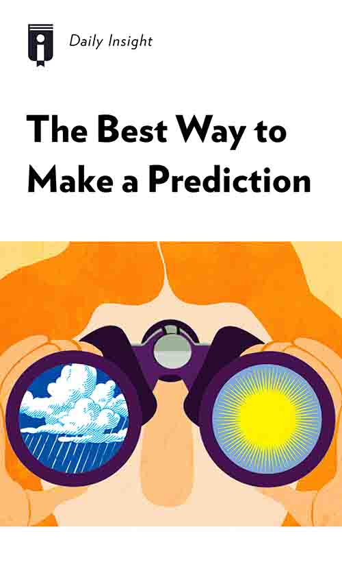 "Book Cover for ""The Best Way to Make a Prediction"""