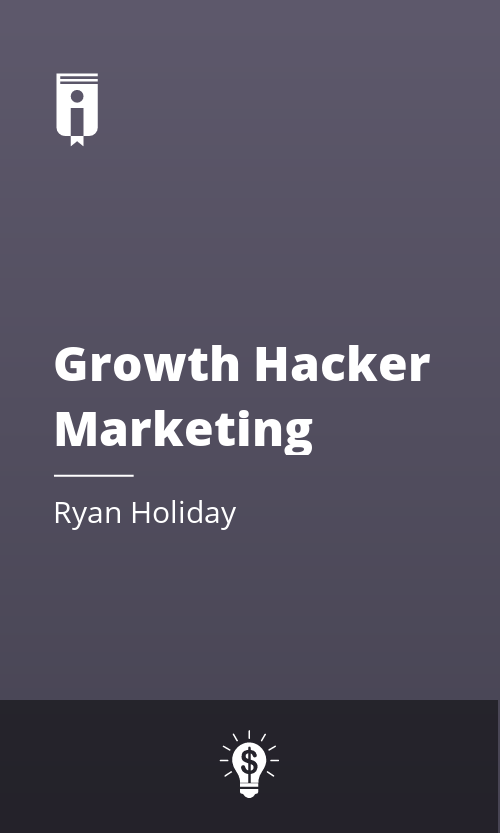 "Book Cover for ""Growth Hacker Marketing"""
