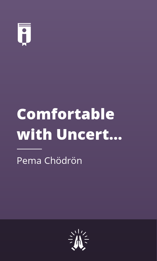 """Book Cover for """"Comfortable with Uncertainty"""""""