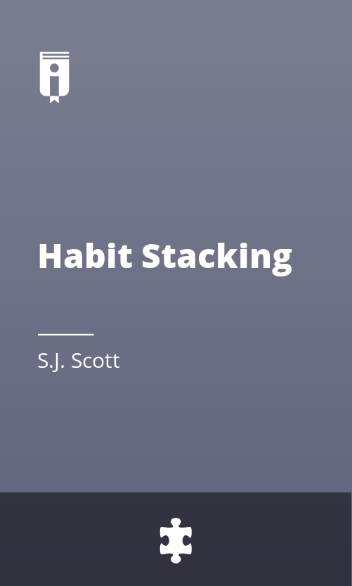 """Book Cover for """"Habit Stacking"""""""
