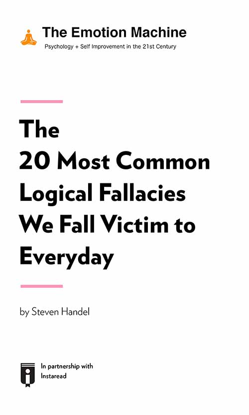 "Book Cover for ""The 20 Most Common Logical Fallacies We Fall Victim to Everyday"""
