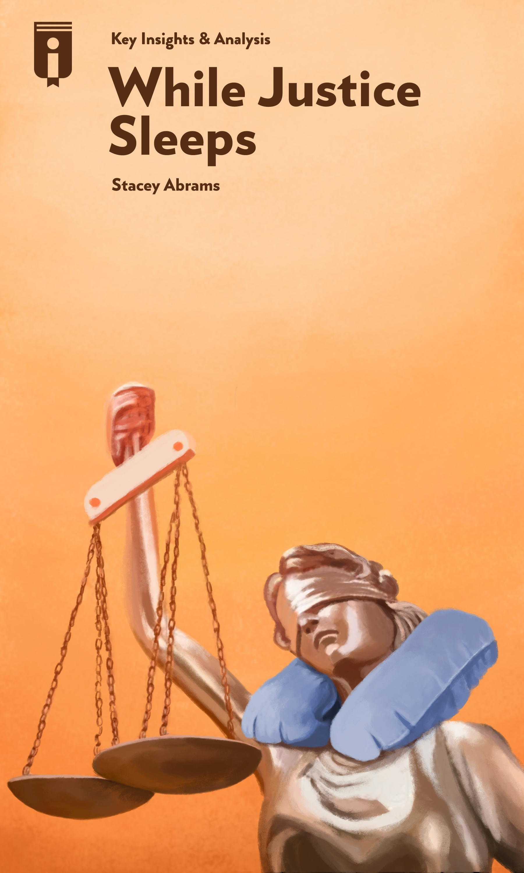"""Book Cover for """"While Justice Sleeps"""""""
