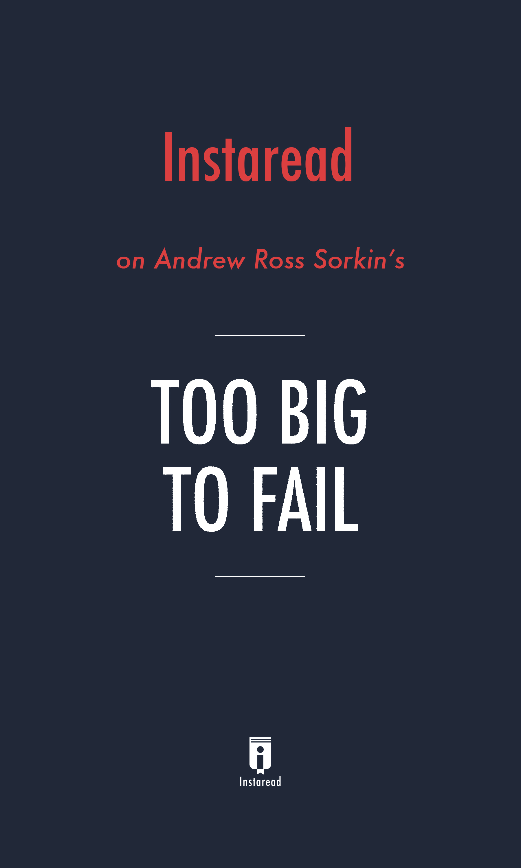 """Book Cover for """"Too Big to Fail"""""""