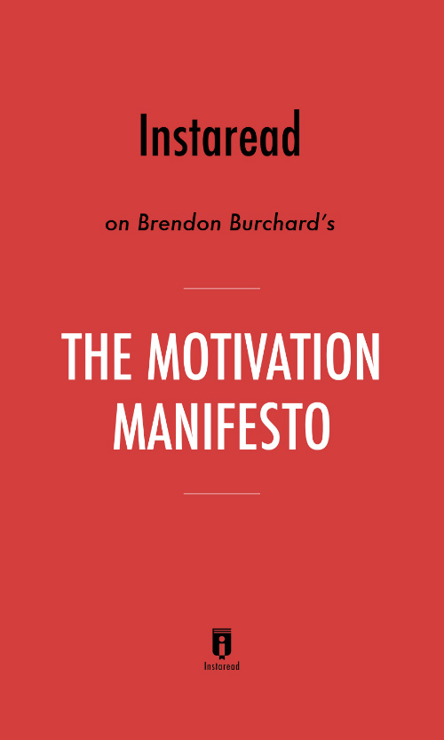 "Book Cover for ""The Motivation Manifesto"""