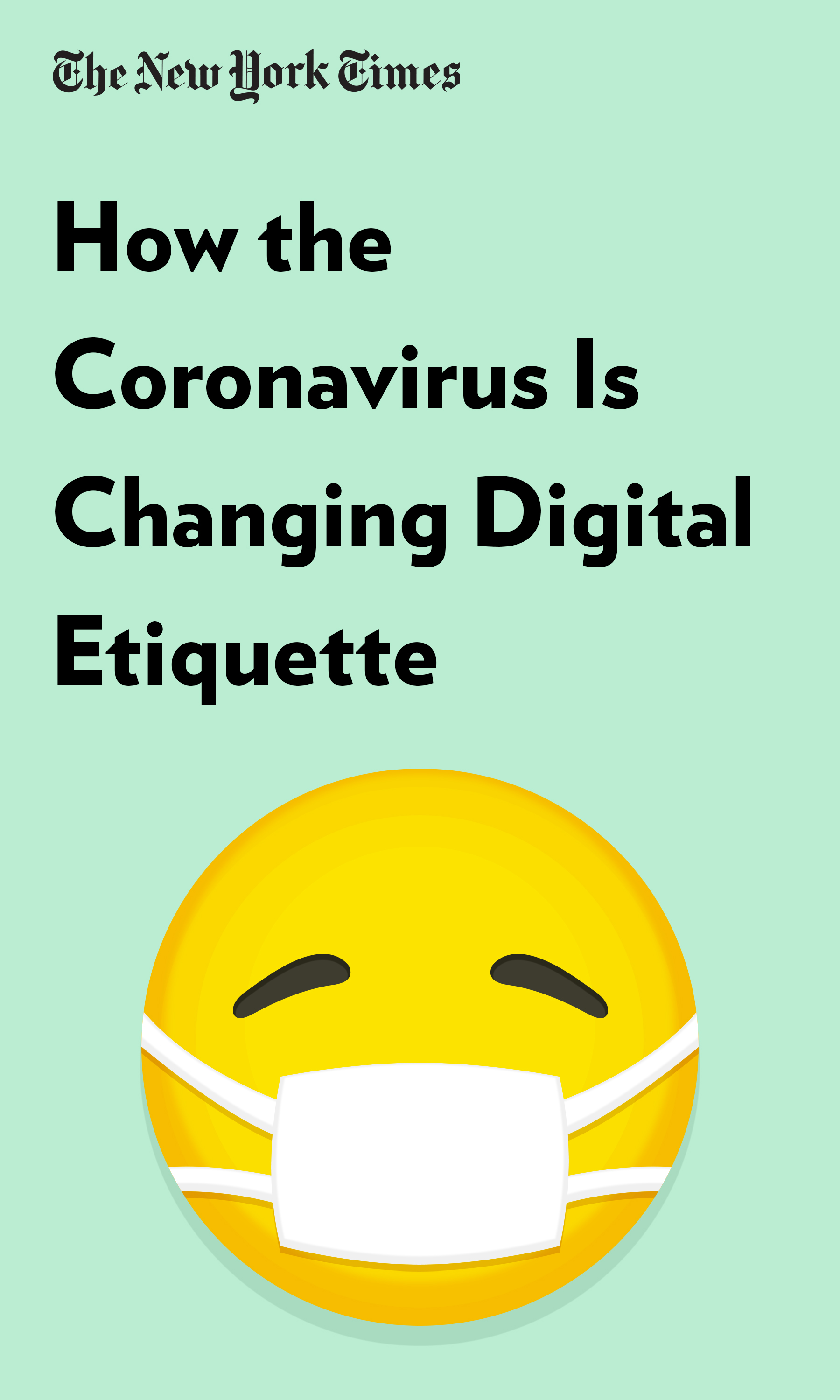 """Book Cover for """"How the Coronavirus Is Changing Digital Etiquette"""""""