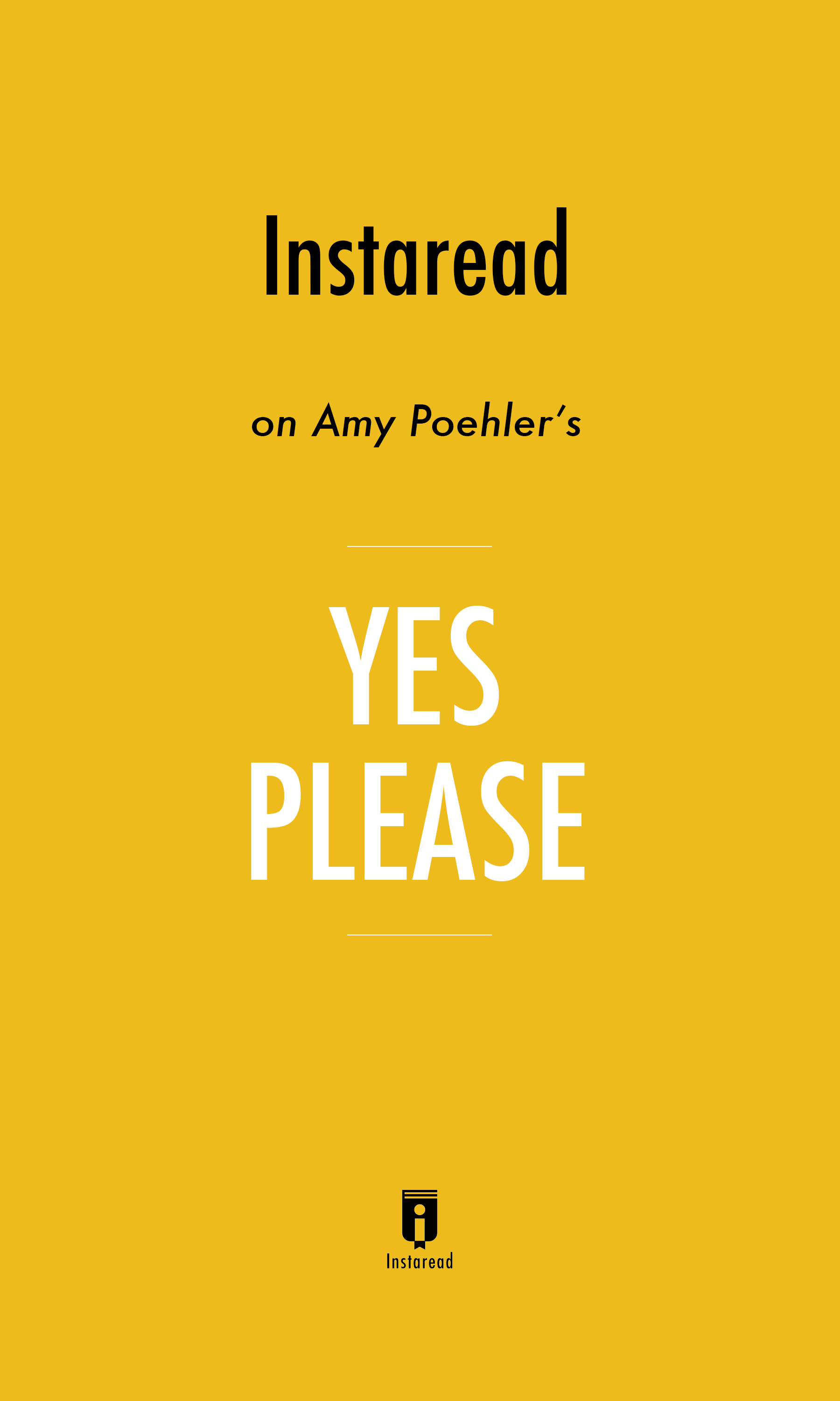 "Book Cover for ""Yes Please"""