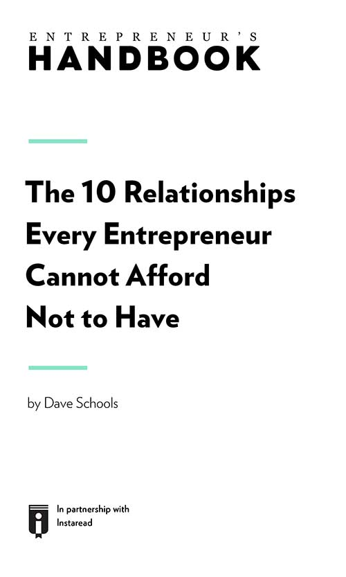 "Book Cover for ""The 10 Relationships Every Entrepreneur Cannot Afford Not to Have"""