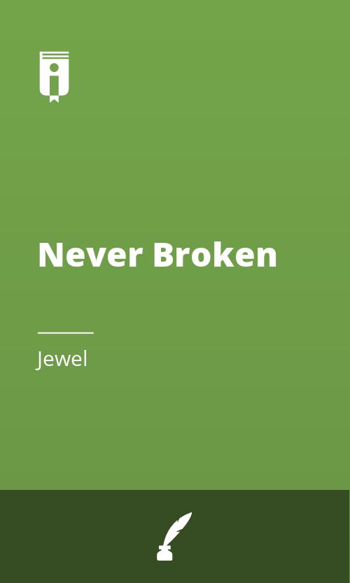 "Book Cover for ""Never Broken"""