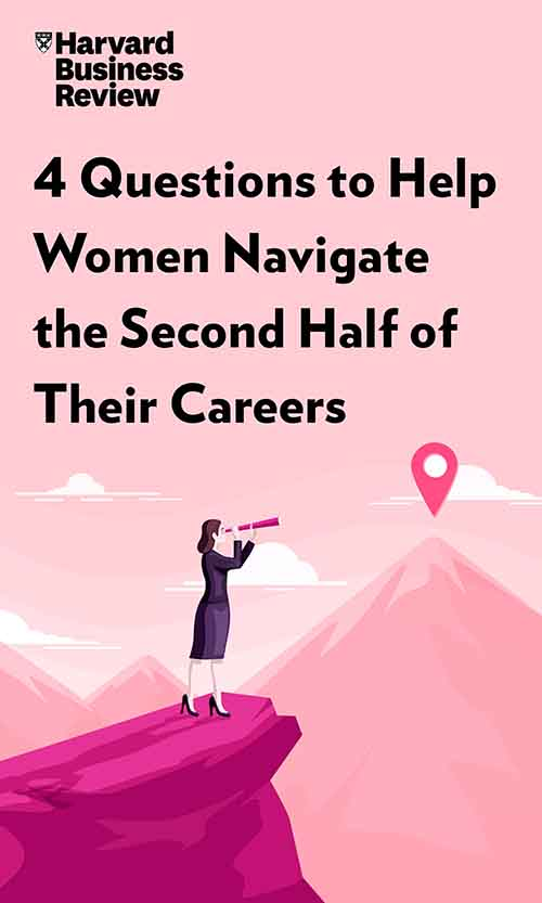 "Book Cover for ""4 Questions to Help Women Navigate the Second Half of Their Careers"""
