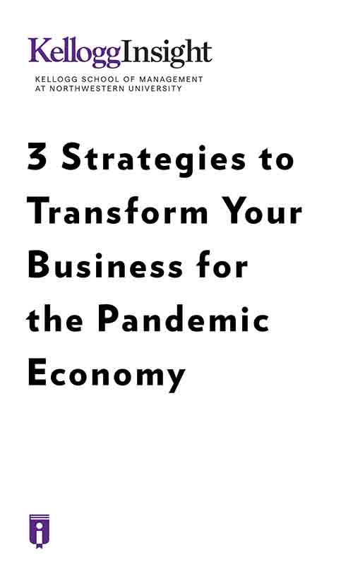 "Book Cover for ""3 Strategies to Transform Your Business for the Pandemic Economy"""