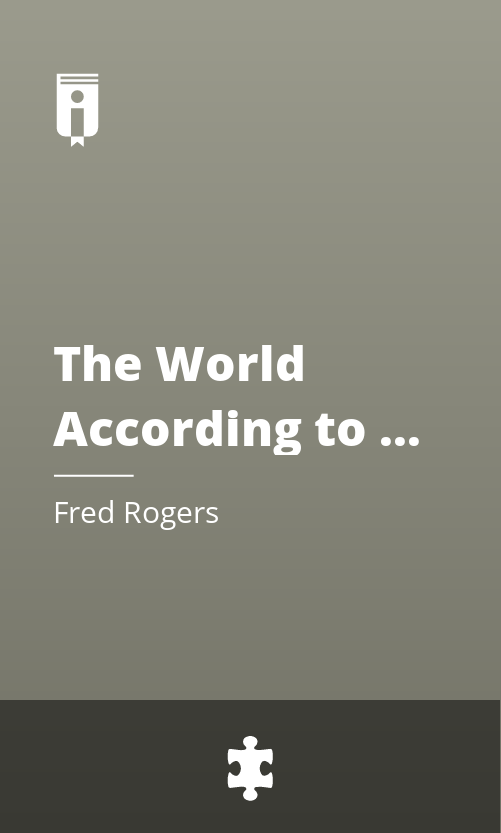 """Book Cover for """"The World According to Mister Rogers"""""""